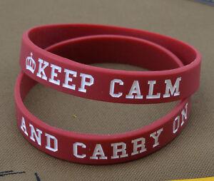Rubber-Bracelet-Bracelet-034-Keep-Calm-And-Carry-On-034