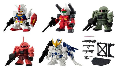 Bandai SD Gundam Senshi Forte 12 Gashapon Figure Tallgeese III Zaku II set 6 pcs