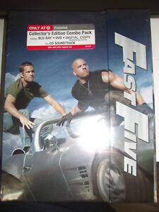 Fast-Five-Blu-ray-Collector-039-s-edition-Combo-Pack-New-Sealed-OOP-Target-Exclusive