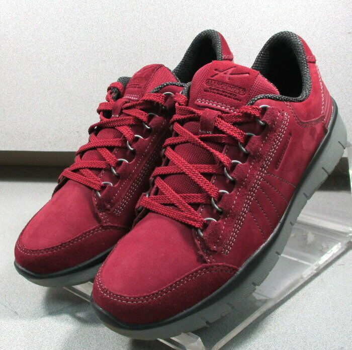 LADIVA rouge larpf 55 chaussures femmes Taille 8 Eur 5.5 CUIR lacets décontractées MEPHISTO