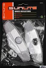 "Sunlite 5"" White Bicycle Spoke Mounted Wheel Reflector Set (2-Reflectors)"