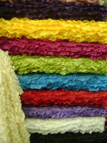 Taffeta Fabric 3D with Fancy Ruffle Design Taffeta drop Item # 541