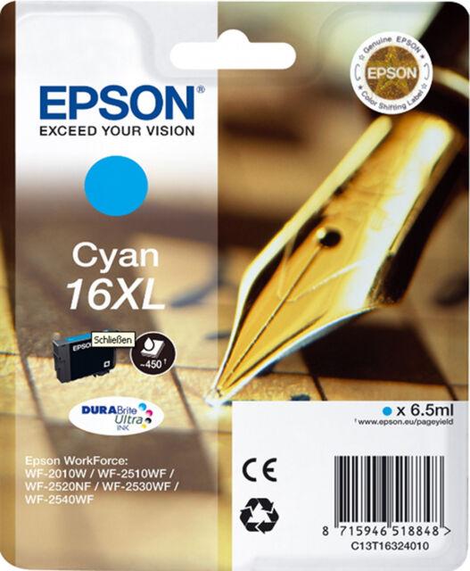 CARTOUCHE EPSON NEUVE 16XL CYAN/ stylo plume t 16 t16 xl 16 xl t1632 workforce