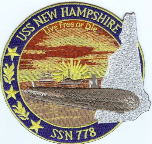 USS New Hampshire SSN 778 c6723 Submarine patch