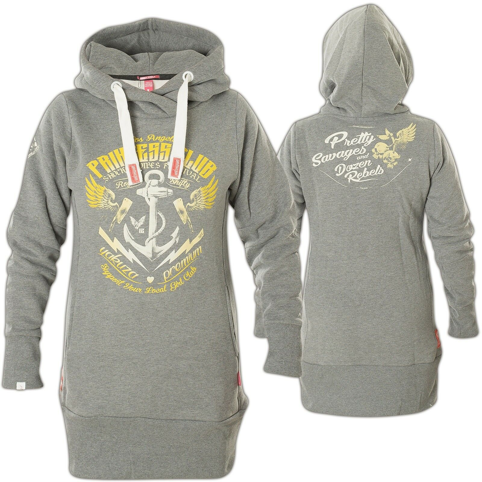 YAKUZA PREMIUM Damen Hoody GH-2443 Hellgrau Hoodies  Sweatshirts mit
