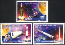 Romania 2008 Space Exploration/Rockets/Satellite/Science/Monkey 3v set (n44614)
