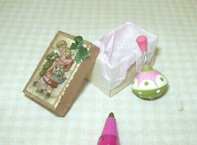 Dollhouse World of Miniature Bears Jointed Gold Suede Toto Dog 1:12 Miniatures
