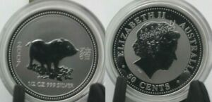 Australia-1-2-oz-50-cents-2007-Silver-Year-Of-The-Pig-Lunar-I
