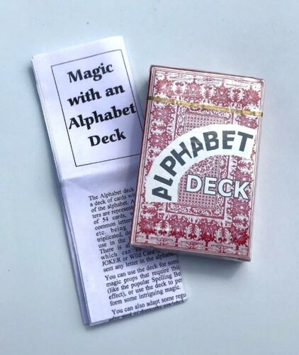 ALPHABET DECK Magic Trick ABC/'s Gag Playing Cards Spelling Pick A Letters Joke