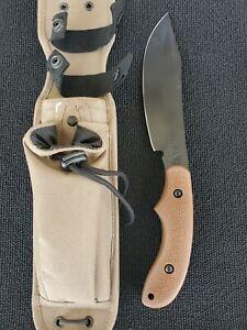 Ka-Bar 5600 Johnson Adventure Series POTBELLY Machete Knife & Sheath