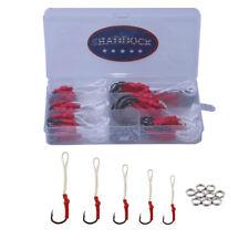 5pcs stainless steel assist hooks jigging fishing hook with pe line bait hook/_kz