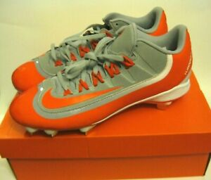 Nike-BSBL-Huarache-2KFilth-Pro-Low-Cleats-Orange-Grey-White-Sz-10-5-807126-081