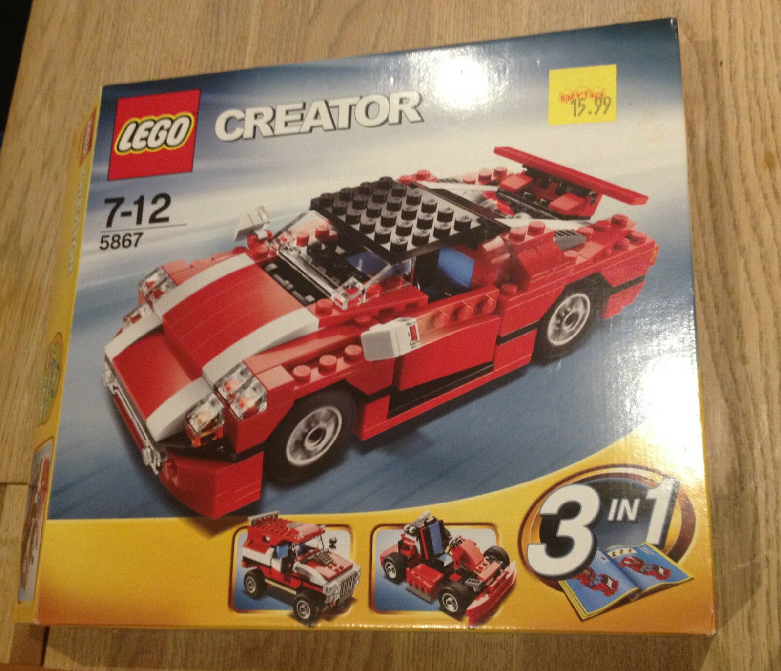 LEGO Creator ROT SPORTS CAR SUPER SPEEDSTER 5867 RARE