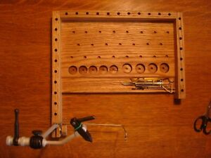 Fly-tying-bench-Right-hander-039-s-tying-station-Fly-tool-caddy-fly-fisherman-gift