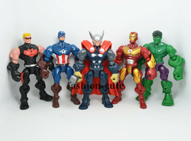 New 5 x The Avengers Action figure Hawkeye Captain America Thor Hulk Iron man