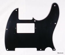 (A52) Custom Guitar Pickguard For Tele Humbucker Cut-out style ,3ply Black