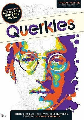 Querkles: A Puzzling Colour-by-Numbers Book, Thomas Pavitte, New Condition