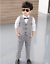 Teenager Kids Boys Blazers Gentleman Suit Plaids Wedding Party Concert Outfits