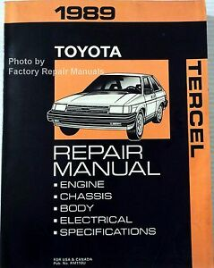 1989-Toyota-Tercel-Factory-Service-Manual-Original-Shop-Repair-Book