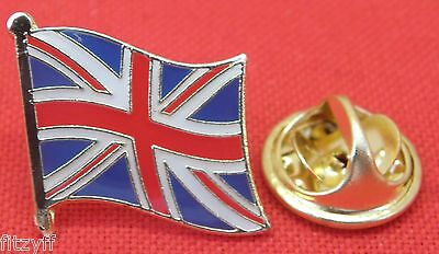 Union Jack Country Flag Lapel Hat Cap Tie Pin Badge Great Britain GB UK