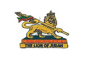 Patch ecusson brode thermocollant backpack rasta reggae ethiopie lion judah Verzamelingen