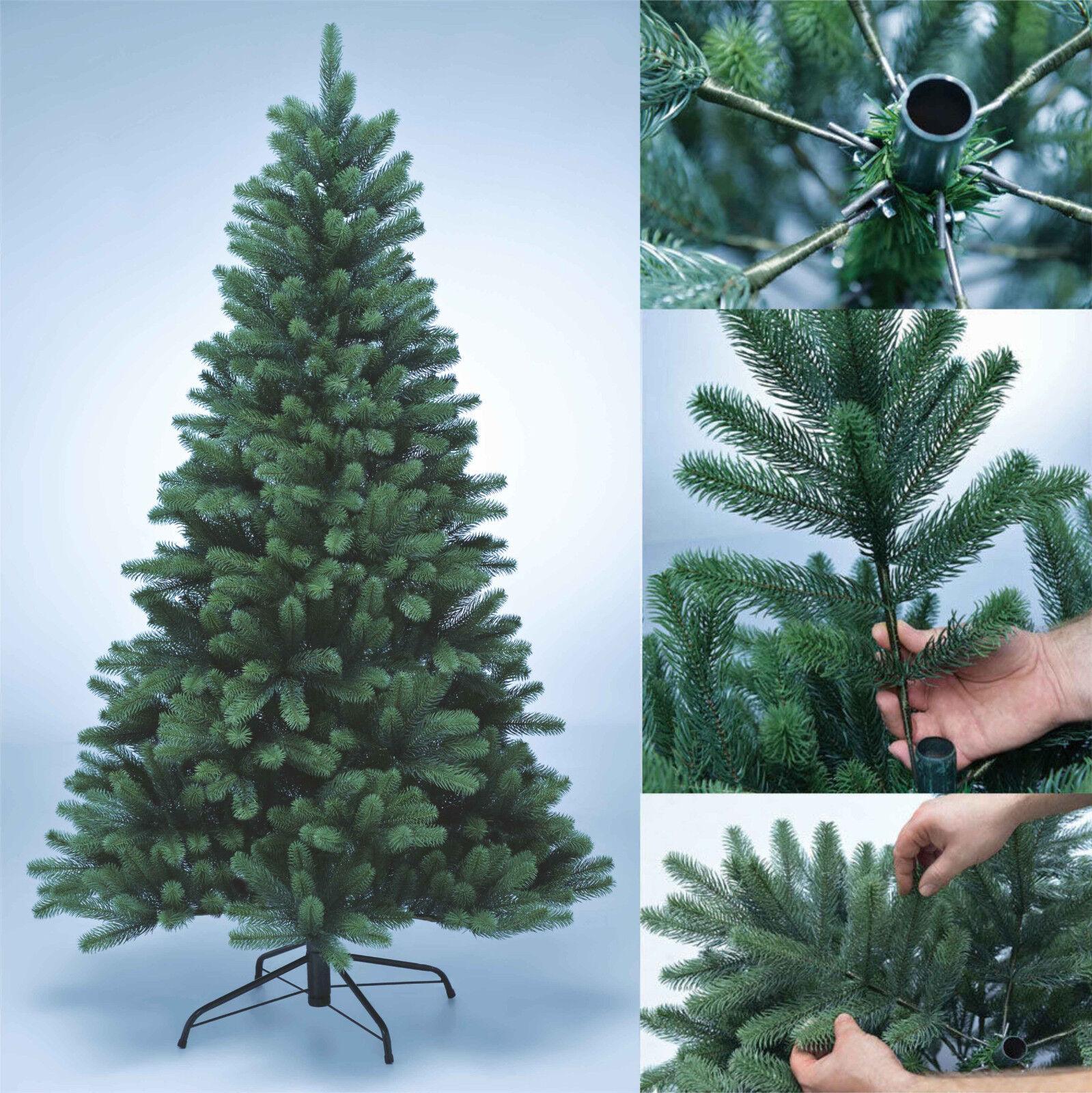 Premium künstlicher Weihnachtsbaum Christbaum PE Spritzguss 180cm naturgetreu BO