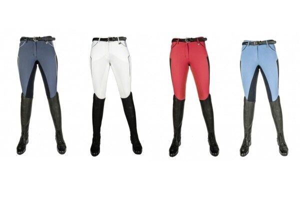 Donna Pantaloni Montala guarnizione in pieno International sportive HKM PRO TEAM NUOVO
