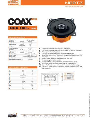 Hertz DCX 100.3 Kit Casse Altoparlanti Posteriori Fiat Grande Punto 199 Da 2006/>