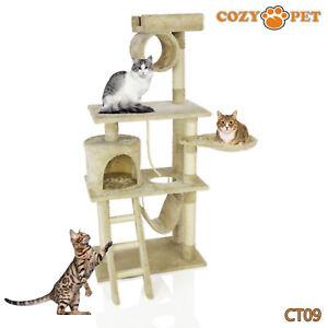 Cozy Pet Deluxe Cat Tree Sisal Scratching Post Quality Cat Trees - CT09-Beige