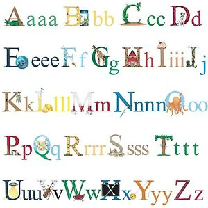 image is loading alphabet 73 big wall decals abc school kids