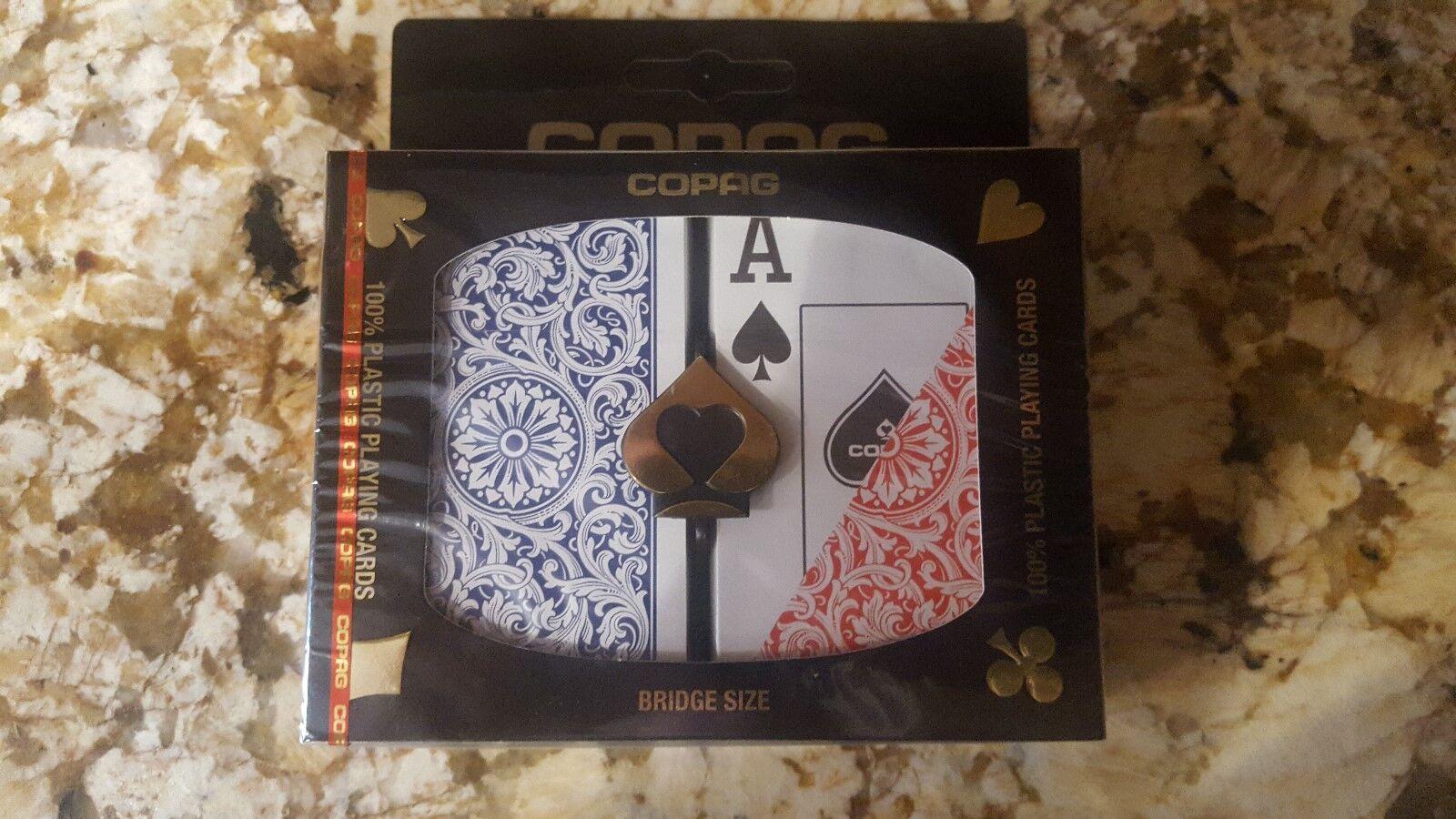 Tapag 1546 placa de póker de gran gran gran talla rojo   azul bridge - 24 nuevas. 105