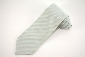 BRIONI-Chambray-Blue-amp-White-Striped-Hand-Made-in-ITALY-Cotton-Silk-Tie