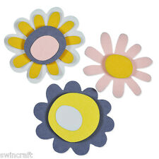 SIZZIX Thinlits Die Cutting Set Dies 4pk SUNNY FLOWER 660807 Craft Asylum