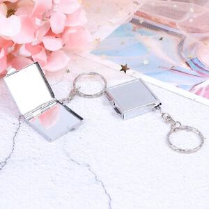 Personalised-Folding-Mirror-Key-Ring-Keychain-Mini-Compact-Pocket-Cosmetic-HC