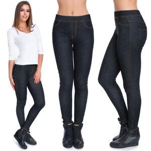 Femmes-Calecons-Longs-Hiver-Polaire-Inside-Regard-de-Denim-Longue-Pantalon-M-XXL