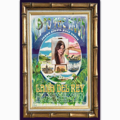 New Lana Del Rey LA to the Moon Star Tour T-784 Silk Fabric Poster