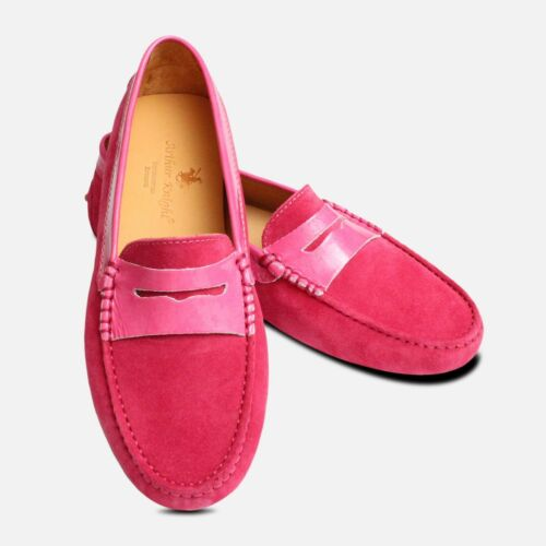 Pink Patent Leather Italian amp; Driving Shoes Suede qPTrRZ