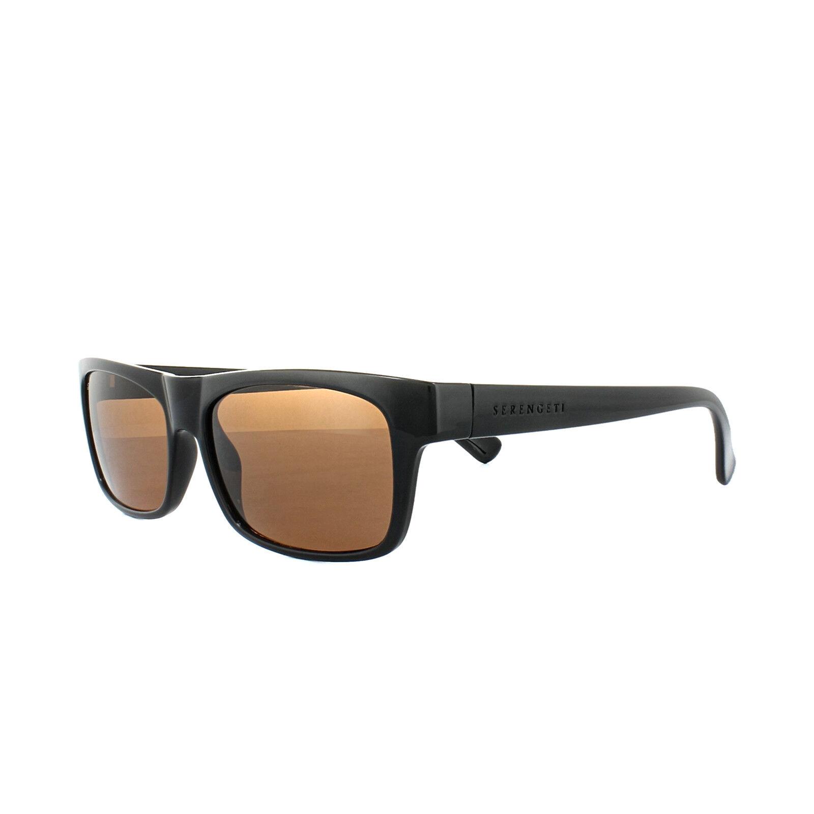 a266333b8e Serengeti Sunglasses Rapallo 8364 Shiny Black Drivers Brown ...