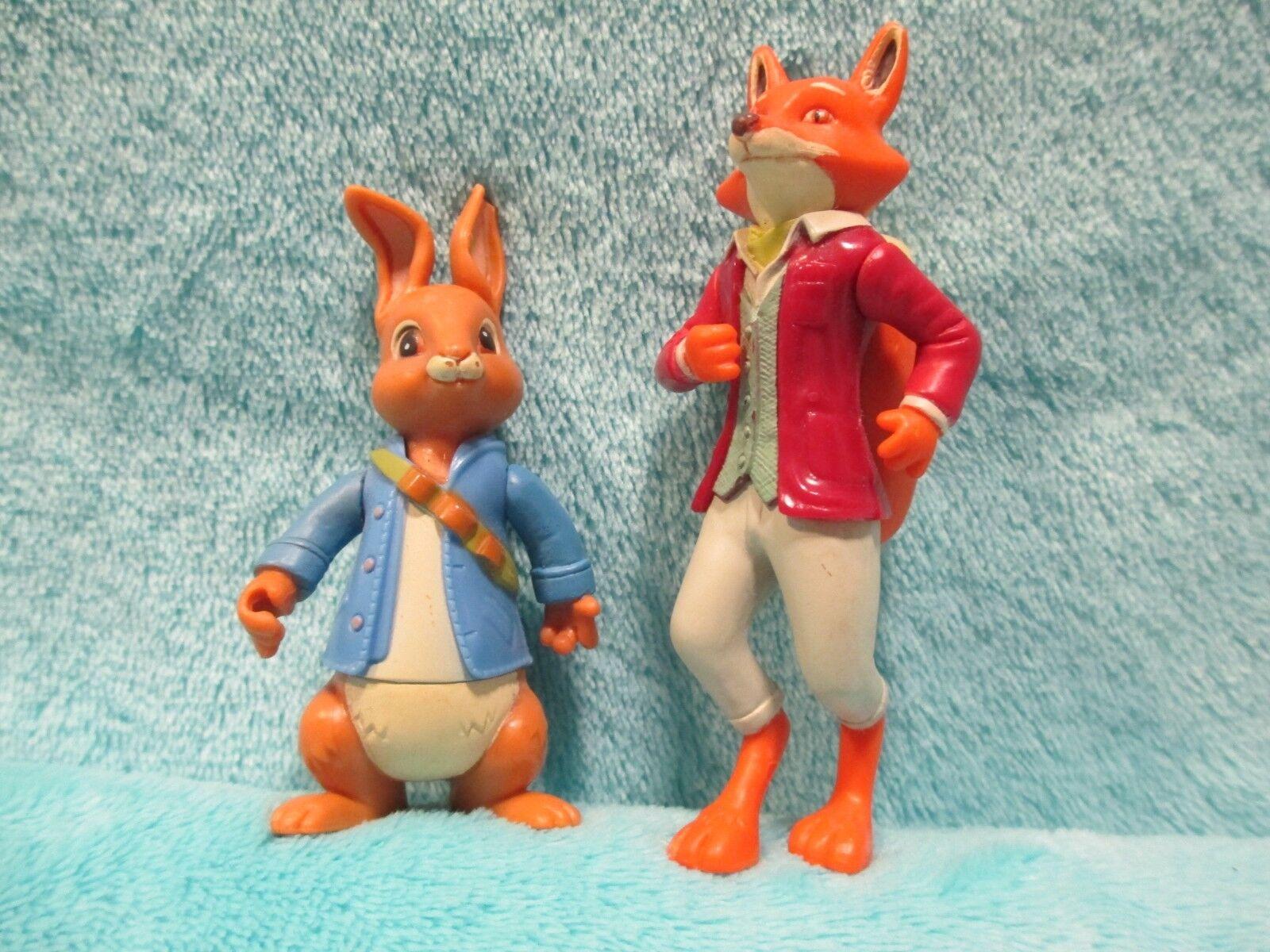 RARE 2013 Peter Rabbit & Friends Friends Friends - Peter + Mr Tod   Todd The Fox Figures Toy Set 5c6bf8