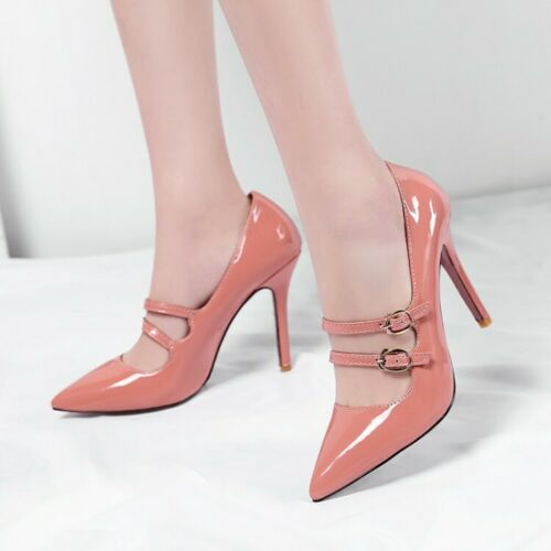 High Stilettos Heels Pointed Toe Ladies Pointed Buckle Casual Party Shoes UK NEW