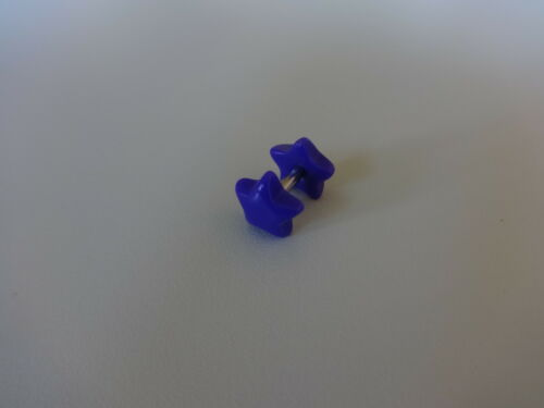 PLUG FAKE TUNNEL DOPPEL STERN STAR NEON Acryl ~ 8 mm WAVE für OHR Ear 1,6 mm
