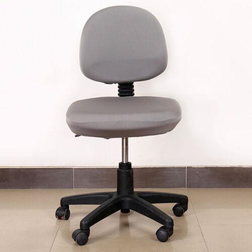 Étirables Bureau Ordinateur Chair Cover Siège Coussin Housse Amovible Drapé
