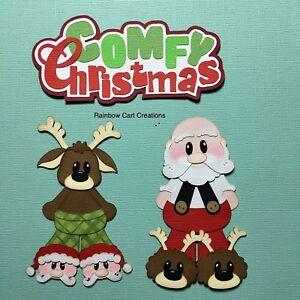 Scrapbook /& Card Making 1 Santa /& Reindeer Backs Premade PAPER Die Cuts