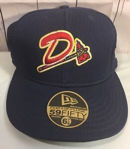 85c652eae14 Danville Braves Hat New Era Fitted Cap 6 7 8 Milb 59fifty Atlanta ...