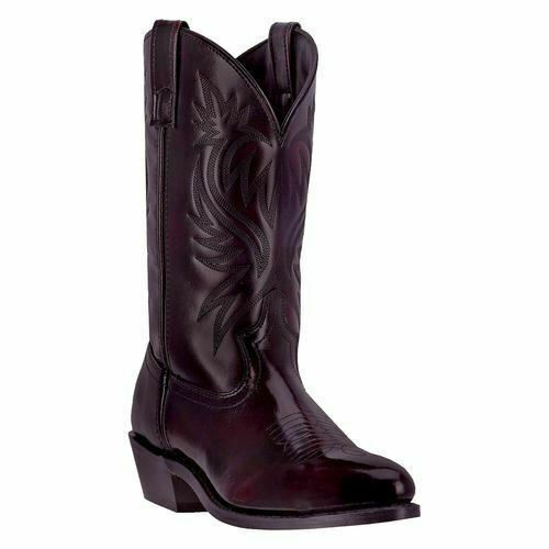Laredo Men's London Western Cowboy Leather Boots Black Cherry 4216