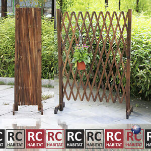 garden climbing plant support expandable lattice screen wooden