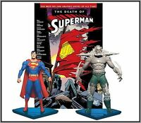 Dc Direct Death Of Superman Vs Doomsday Figure Collector Set + Comic Tp Book