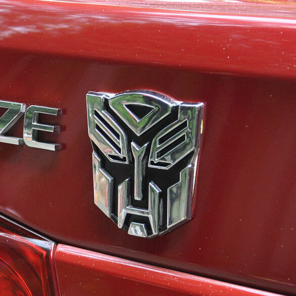 3d Transformers Car Badge Autobot Logo Metal Chrome Sticker Emblem