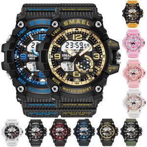 Unisex-Men-039-s-Women-039-s-Digital-Military-Waterproof-Analog-Alarm-Sports-Wrist-Watch