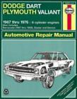 Haynes Manuals: Haynes Dodge Dart and Plymouth Valiant, 1967-1976 No. 234 by Peter G. Strasman and John Haynes (1985, Paperback)